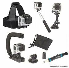 NEW Sunpak Action Camera Accessory Kit - Works with GoPro, Nikon, Sony