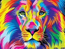 Lion Colorful Paint By Numbers Kits DIY Number Canvas Painting Hand painted