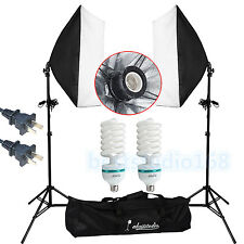 1350W Continuous Lighting Softbox Photography Studio Soft Box Light Stand Kit US