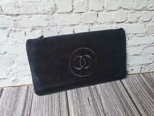 NEW CHANEL BLACK CC LOGO MAKEUP POUCH CLUTCH BAG