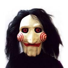 Creepy Evil Scary Halloween Clown Mask Rubber Latex Jigsaw JIg SAW CLOWN