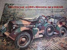 Deutsche Kübelwagen Im Kriege (GERMAN JEEPS IN WAR), Podzun-Pallas-Verlag, 1988