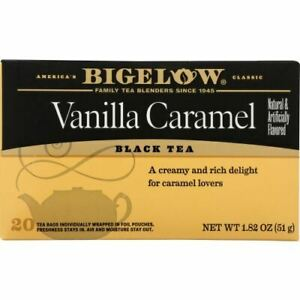 Tea Vanilla Caramel 20Bg Case of 6 X 1.82 Oz