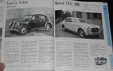 1953 AUTO di BISCARETTI DI RUFFIA FORMIDABILE CATALOGO ILLUSTRATO PRODUZIONE1953