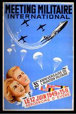 Reunión Militaire internacional de aeródromo d'evere 1949 cartel belga