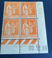 France N° 286 1 f Orange  Neuf **  Pale Et Plus Fonce TTB