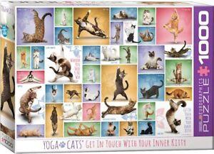Yoga Cats 1000 piece jigsaw puzzle 680mm x 490mm (pz)