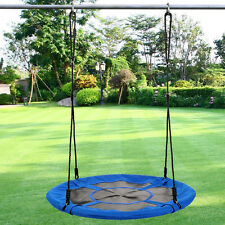 "40"" Tree Saucer Swing Playground Platform Swing Flyer Nylon Rope Kid Outdoor Toy"