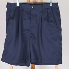 Haggar Blue Casual Shorts Men's 34 Pleated Front