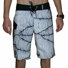 "VOLCOM MENS FA MORRISSEY BOARDSHORTS WHITE/BLACK BEACH SURF SHORTS 34"" BNWT"