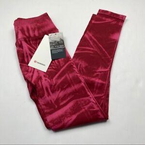 Lululemon Ebb to Street Tight Wash SWC1 Stone Wash Chianti Red size 4-6-8 New