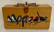 Enid Collins Wooden Box Bag For the Birds Purse Use Repair Parts Handpainted