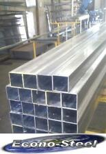 RHS STEEL SQUARE TUBE 75x75x3.0x8mt long aprx, SECONDS Galvanised, Econosteel
