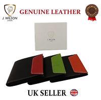Designer J Wilson Genuine Mens Quality Real Leather Wallet Slim Credit Card Gift