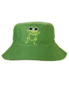 GYMBOREE SWIM SHOP COOL FROGGY REVERSIBLE BUCKET HAT 0 12 24 2T 3T 4T 5T NWT