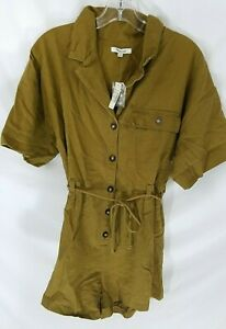 NWT Madewell Distant Safari Belted Short Romper Size M