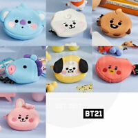 BTS BT21 Official Authentic Goods Neck Strap Mini Pouch Baby Ver + Tracking