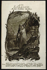 santino incisione 1700 S.BRUNO DI COLONIA  balechou