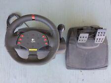 Logitech MOMO Racing Force Feedback Steering Wheel & Foot Peddles USB Racing