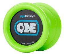 Green ONE Yo Yo From The YoYoFactory + 3 FREE EXTRA NEON STRINGS YELL/ORG/GREEN