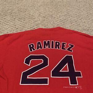 Manny Ramirez Boston Red Sox T Shirt MLB Baseball Youth Boys Large (14-16)