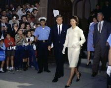 President John F. Kennedy and Jackie attend Mass at St. Mary's New 8x10 Photo