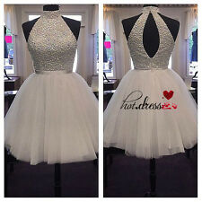 Beading Short Formal Party Prom Bridal Homecoming Gown Bridesmaid Dresses Custom