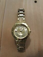 HILFIGER WOMEN'S Watch USED GOLD TONE STAINLESS STEEL Model # TH249 3 34 1680