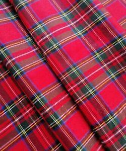 Red Stewart Tartan Check VW CAMPER VAN Caravan Lined Curtains T2 T4 T5 T25