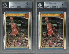 1988 FLEER BASKETBALL #120 MICHAEL JORDAN A.S. BGS 9 MINT LOT OF 2 *3rd YEAR*
