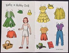 1955, Kathy, A Hobby Doll From the Hobby Doll Series Paper Doll,Jack & Jill Mag