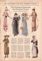 1912 Original Fashion Print - Costume dresses for the Summer Dance