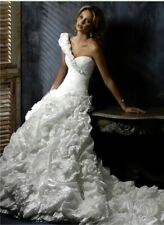 Maggie Sottero Wedding Dress (Venecia, Size 8, Ivory, One Shoulder / Sleeveless)