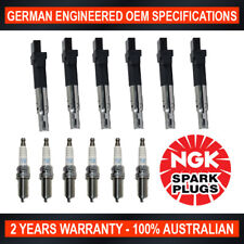 6x Genuine NGK Iridium Spark Plugs & 6x Ignition Coils for VW Passat 3C Audi Q7