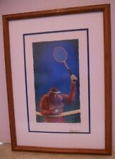 Tennis Anyone? Print by Will Bullas Twice Signed - Numbered 47/1000 Double Mat