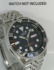Black Ceramic Bezel Insert for Seiko SKX007 SKX009 scratch resistant