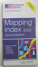 Old vintage OS Ordnance Survey Mapping Index July 2000 - Second Edition