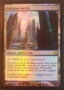 Fontaine sacrée PREMIUM / FOIL VF - French RTR Hallowed Fountain - Magic mtg