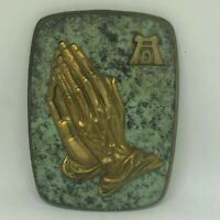 Vintage German Bronze Metal Wall Plaque The Praying Hands Durer Apostle