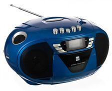 CD Player MP3/CD mit Kassettenfach, UKW Radio und AUX IN Dual P68 blau