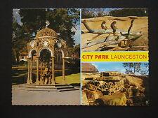 CITY PARK LAUNCESTON DOMED FOUNTAIN MONKEY ISLAND c1988 POSTCARD
