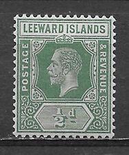 LEEWARD ISLANDS , KING GEORGE V , 1912 , 1/2p STAMP , PERF , VLH