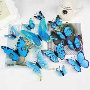 12 x 3D Butterfly Wall Stickers Home Decor Room Decoration Sticker