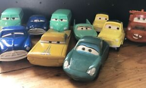 Disney Pixar Cars movie toys from Mcdonalds Lot 10 Doc Mater Sally Filmore Flo