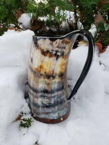 Large 16-24oz Viking Tankard Drinking Horn Beer Mug