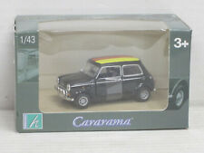 Mini Cooper, schwarz / deutsche Fahne auf dem Dach, Cararama/Hongwell, OVP, 1:43