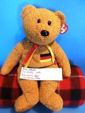 Ty Buddy 1999 Germania Bear with German Flag Bean Bag Plush (310-2862)