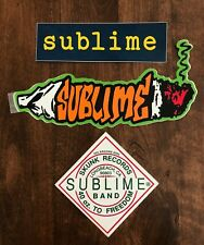 Sublime Sticker - Lot of 3 Stickers from the min 90s