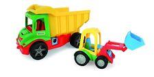 Kipper mit Lader 38,5cm LKW Traktor mit Ladeschaufel WADER
