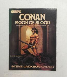 Gurps Conan Moon of Blood Solo Adventure in Robert E. Howards Hyborian Age
